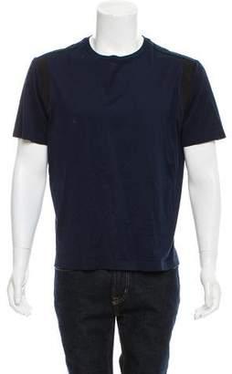 Lanvin Grosgrain-Trimmed Crew Neck T-Shirt