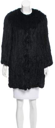 Theory Knitted Fur Jacket