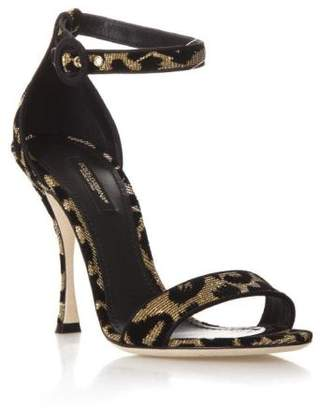 Dolce & Gabbana High Leopard Keira Sandals