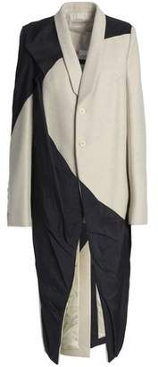 Rick Owens Paneled Wool-Blend And Shell Coat