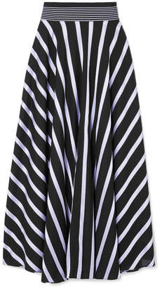 Diane von Furstenberg Striped Cotton-blend Maxi Skirt