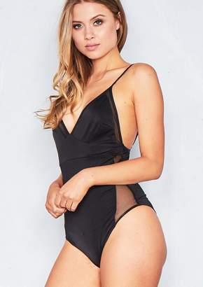 c500595b26 Missy Empire Missyempire Dora Black Slinky Mesh Bodysuit