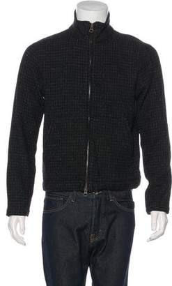 Billy Reid Wool-Blend Zip-Up Sweater