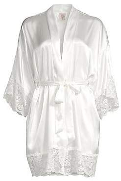 In Bloom Women's The Bride Satin & Lace Wrapper Robe