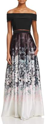 AQUA Floral Ombré Gown - 100% Exclusive $268 thestylecure.com