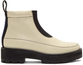 3.1 Phillip Lim Ivory Avril Lug Sole Boots