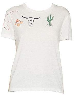 Saint Laurent Women's Arizona Print T-Shirt