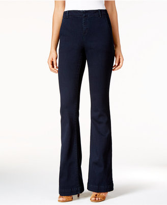 INC International Concepts Curvy-Fit Denim Trousers, Only at Macy's $79.50 thestylecure.com