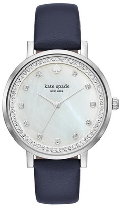 Women's Kate Spade New York 'Monterey' Leather Strap Watch, 38Mm $195 thestylecure.com