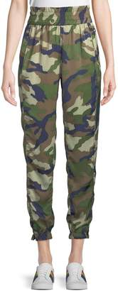 KENDALL + KYLIE Camouflage Charmeuse Jogger Pants