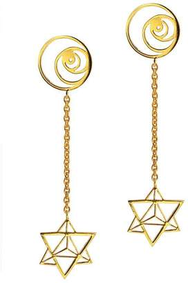 "Eina Ahluwalia Geometric Drop Earrings ""Sacred"""