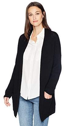 Cable Stitch Women's Open Front Waffle Stitch Cardigan Sweater