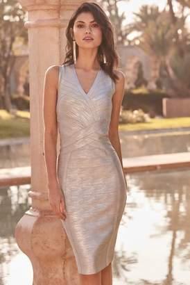 e6101af5 Next Lipsy Metallic V neck Bandage Dress - 6