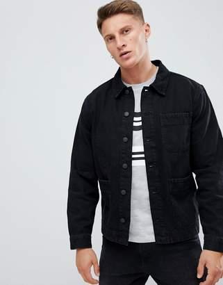 New Look worker jacket in black