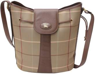 Burberry Vintage Brown Cloth Handbag
