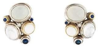 David Yurman Two-Tone Mosaic Multi-Stone Earrings