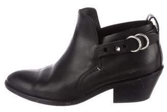 Rag & Bone Round-Toe Leather Booties