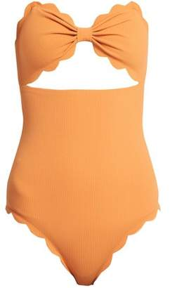 Marysia Swim Antibes Scallop Edged Swimsuit - Womens - Orange