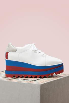 Stella McCartney Elyse Bicolor Wedge Derbies