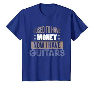 Funny Guitar Shirt I Used to Have Money Guitars T-Shirt Star