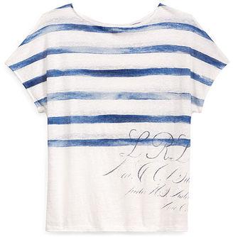 Ralph Lauren Lauren Linen Short-Sleeve Top $79.50 thestylecure.com