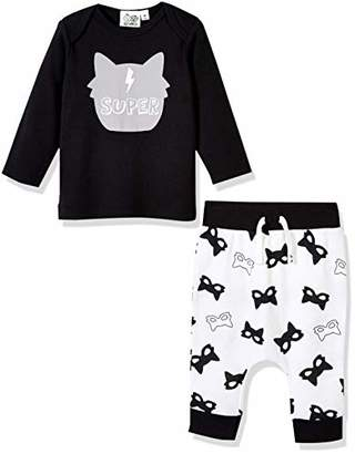 Silly Apples Baby Unisex Cotton Blend 2-Piece Long-Sleeve T-Shirt and Pant Outfit Set (6M)