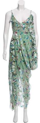 Preen by Thornton Bregazzi Silk Chiffon Maxi Dress w/ Tags