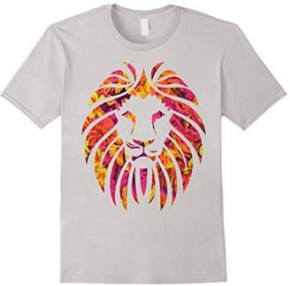Hipster Lion Hawaiian Print Shirt