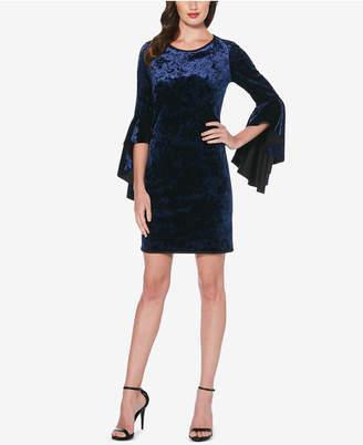 Laundry by Shelli Segal Reversible Bell-Sleeve Velvet Dress