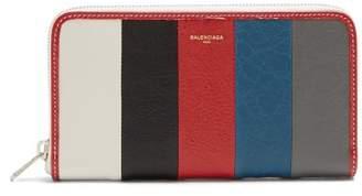 Balenciaga Bazar Zip Around Leather Continental Wallet - Mens - Multi