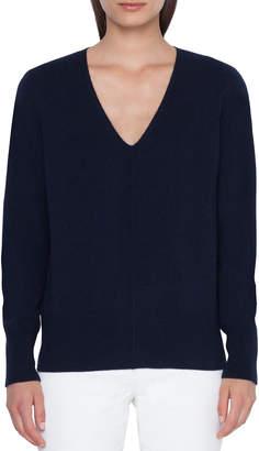 Akris V-Neck Cashmere Pullover Sweater