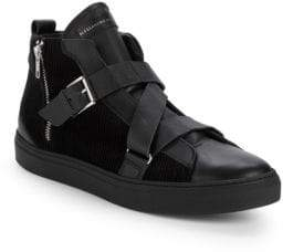 Alessandro Dell'Acqua Leather High-Top Sneakers