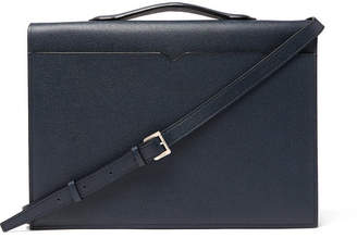 Valextra Pebble-Grain Leather Briefcase - Men - Navy