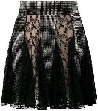 Christopher Kane crystal lace mini skirt