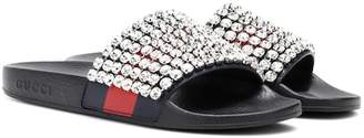 Gucci Crystal-embellished slides
