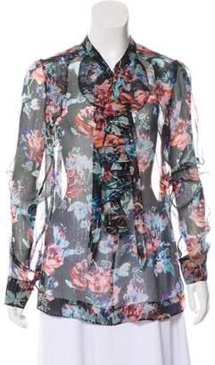 Mary Katrantzou Silk Long Sleeve Blouse