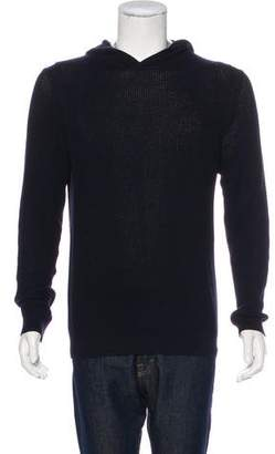 Vince Rib Knit Hooded Sweater
