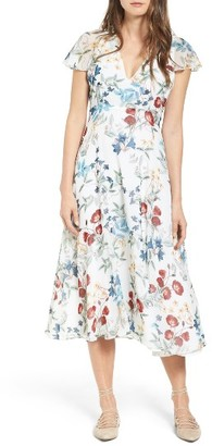 Women's Willow & Clay Floral Midi Dress $119 thestylecure.com