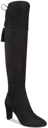 INC International Concepts Women's Hadli Wide-Calf Over-The-Knee Boots, Only at Macy's $139.50 thestylecure.com