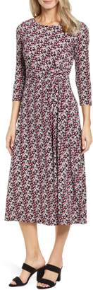 Chaus Knot Front Ditsy Dress