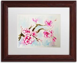 Trademark Fine Art Cherry Blossom Framed Wall Art