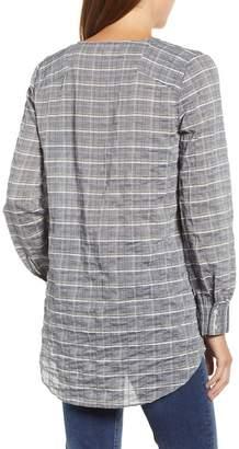 Caslon Faux Wrap Cotton Top (Regular & Petite)