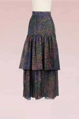 Chloé Fireworks Printed Cotton Long Skirt