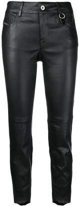 Diesel skinny-fit cropped trousers