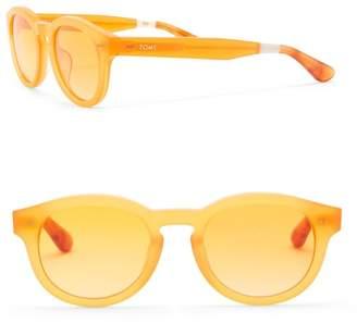 Toms Bellevue 49mm Round Sunglasses