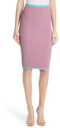 Diane von Furstenberg Fitted Jacquard Pencil Skirt