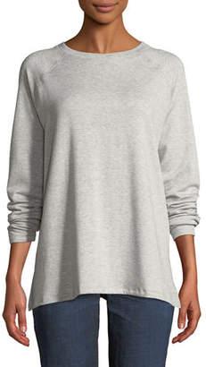 Eileen Fisher Long-Sleeve Tencel Fleece Top, Petite