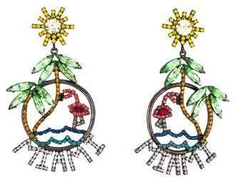 Elizabeth Cole Crystal Miami Chandelier Earrings