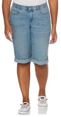 Rafaella Plus Cuffed Denim Bermuda Shorts