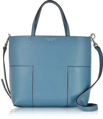 Tory Burch Block-T Blue Yonder Leather Mini Tote Bag
